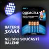 3xAAA baterie do kapesní UV lampy nejsou součástí balení
