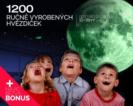 1200 svítících hvězdiček od Spaceglo.cz na strop dětského pokoje nebo ložnice