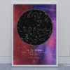 Svitici Hvezdna mapa zivotniho okamziku hluboký vesmír oranžovo fialovo růžová ve dne