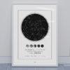 Svitici Hvezdna mapa zivotniho okamziku skandinávský styl fáze Měsíce ve dne