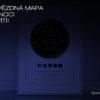 Svitici Hvezdna mapa zivotniho okamziku bílá skandinávský styl fáze Měsíce ve tmě