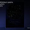 Svítící hvězdná mapa životního okamžiku – Hluboký vesmír tmavě modro růžový noc