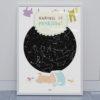 Svitici hvezdna mapa zivotniho okamziku ilustrovana k narozeni ditete kluk den