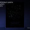 Svitici hvezdna mapa vaseho vaseho zivotniho okamziku skandinavsky styl cerna kompas sever jih NOC