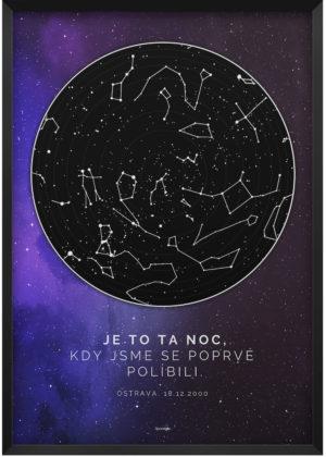 Svitici hvezdna mapa zivotniho okamziku hluboky vesmir modro fialovy 002 k8