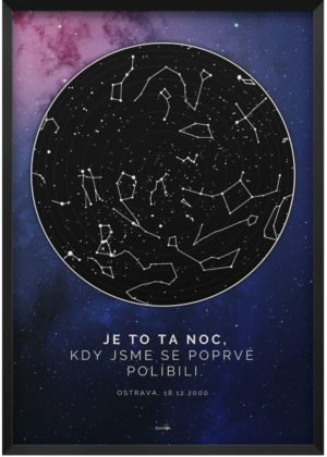 Svitici hvezdna mapa zivotniho okamziku hluboky vesmir modro ruzovy 001 k2