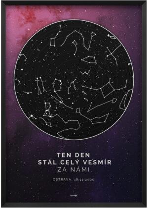 Svitici mapa nocni oblohy hluboky vesmir - ten den stal cely vesmir za nami