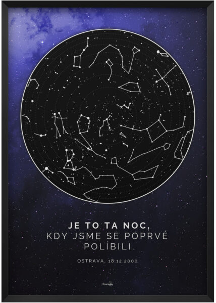 Svitici hvezdna mapa nocni oblohy vaseho zivotniho okamziku hluboky vesmir tmave modry 028